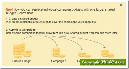 рекламный бюджет в google adwords